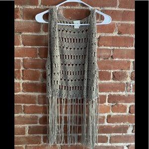 Buckle Daytrip Crocheted Vest